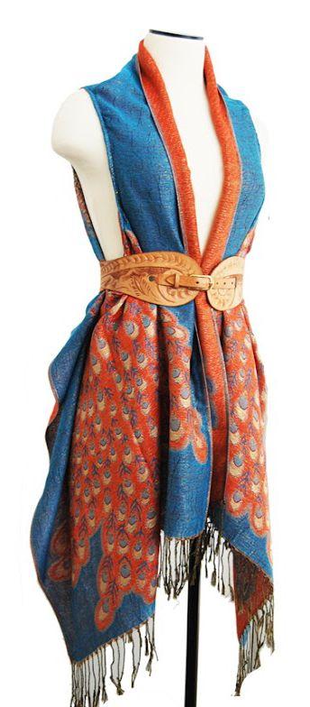 Gratis Damen Schnittmuster - DIY draped vest