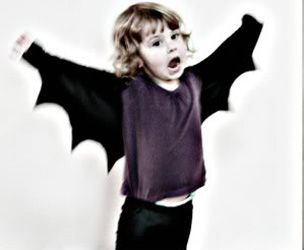 Gratis Fasching Schnittmuster - Easy Bat Wings