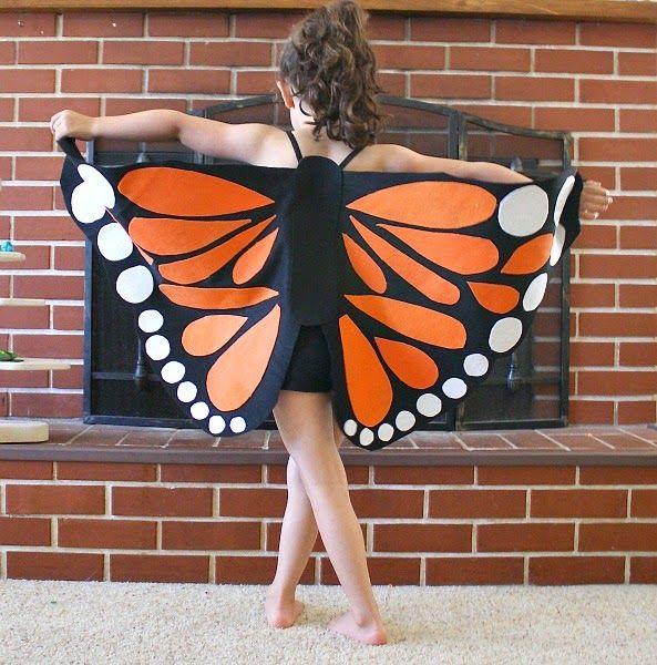 Gratis Fasching Schnittmuster - Schmetterling-Kostüm selber machen