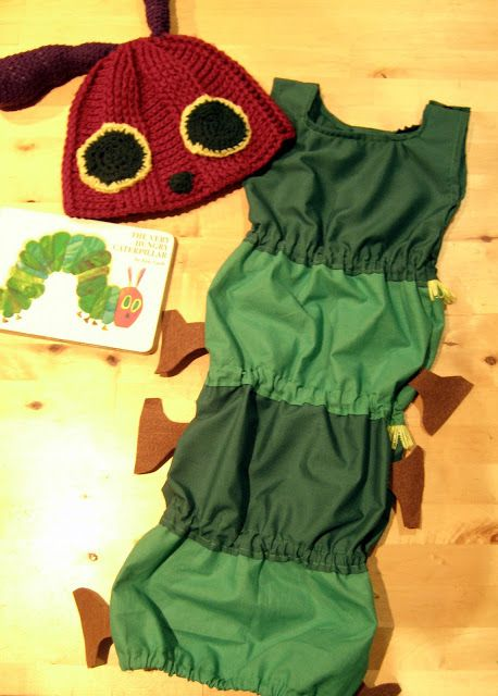 Gratis Fasching Schnittmuster - Very Hungry Caterpillar costume
