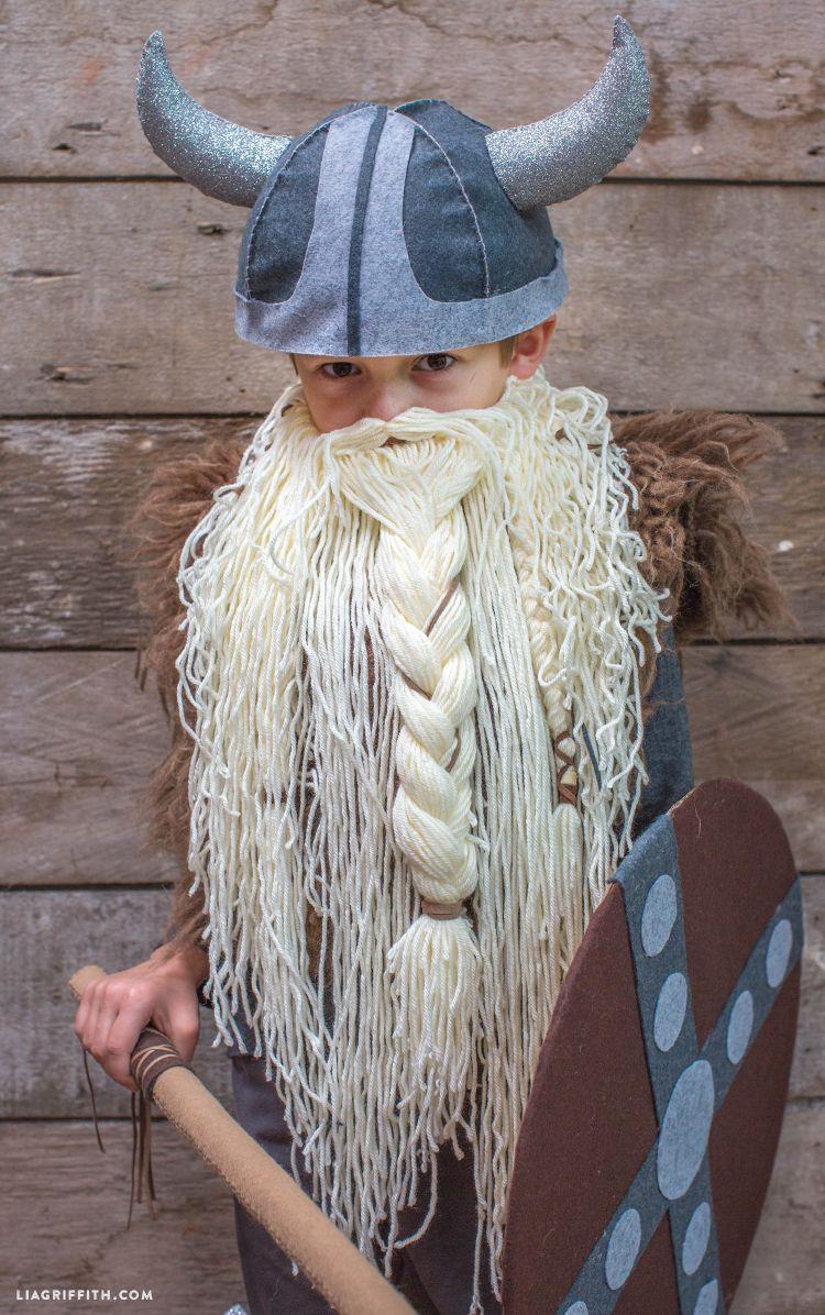 Gratis Fasching Schnittmuster - DIY Kid's Viking Costume
