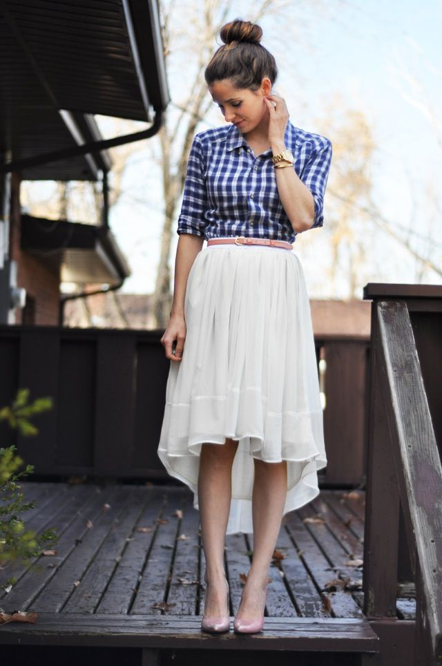 Gratis Damen Schnittmuster - Sheer Gathered High-Low Skirt Tutorial
