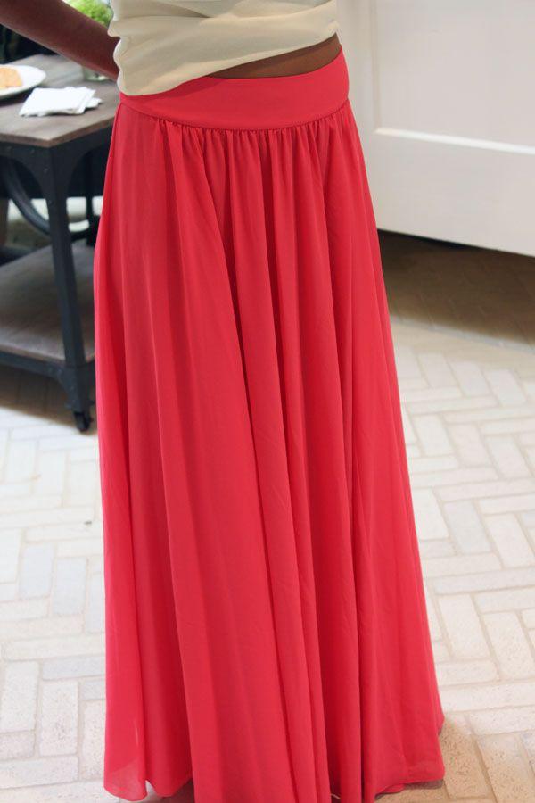 Gratis Damen Schnittmuster - Maxi Skirt Pattern