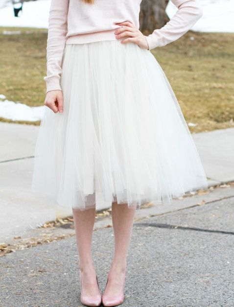 Gratis Damen Schnittmuster - VERY simple tulle skirt tutorial