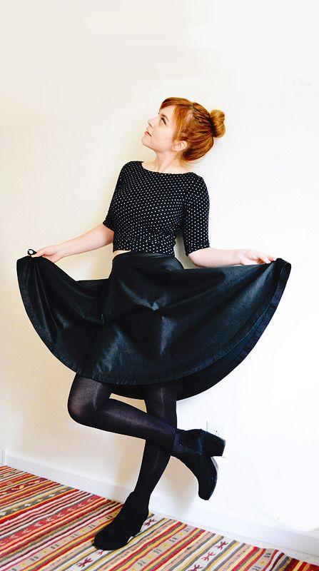 Gratis Damen Schnittmuster - 3/4 Circle Skirt