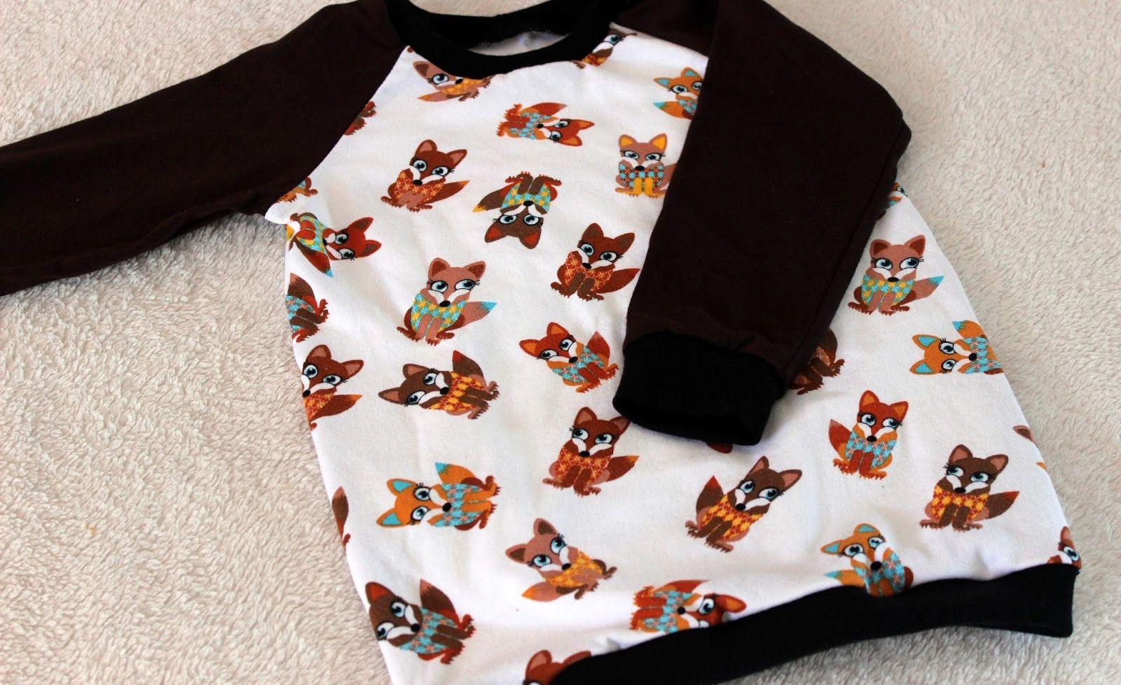 Gratis Kinder Schnittmuster - Autumn Rockers Raglan Pullover