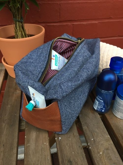 Gratis Taschen Schnittmuster - Männerwaschtasche Tutorial
