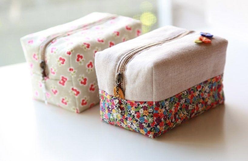 Gratis Taschen Schnittmuster - Block Zipper Pouch Tutorial