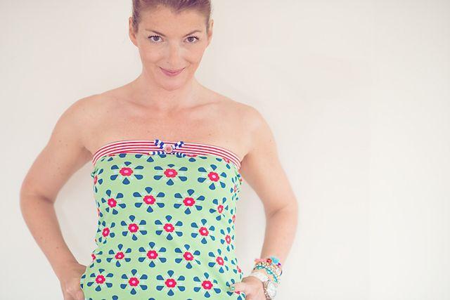 Gratis Damen Schnittmuster - tube-top tutorial