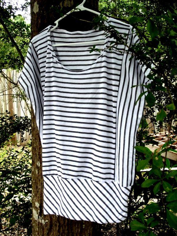Gratis Damen Schnittmuster - Knock Off Sewing - Stripes