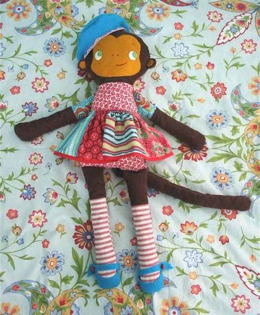 Gratis Spielsachen Schnittmuster - Molly Monkey