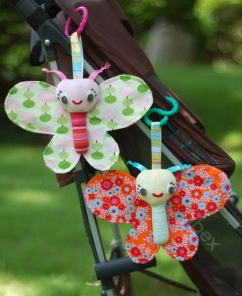 Gratis Spielsachen Schnittmuster - Baby Butterfly