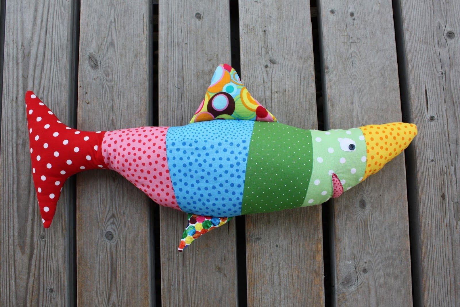 Gratis Spielsachen Schnittmuster - Schuppi, der Fisch